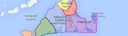 martha's vineyard map image